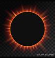 total solar eclipse on transparent vector image