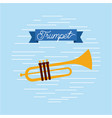 trumpet jazz instrument musical festival vector image