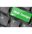 Web design text on a button keyboard key Keyboard vector image