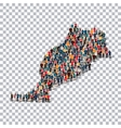 people map country Morocco vector image