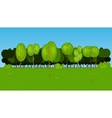Collection of Cartoon Tree in vector image