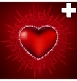 abstract heart and ecg star eps 8 vector image vector image