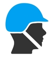 Soldier Helmet Icon vector image