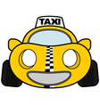 Funny taxi car vector image