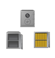 Safes with gold bars vector image vector image