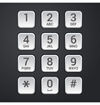 Digital dial plate of security lock or telephone vector image