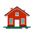 house icon building isolated on white background vector image