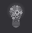 Lightbulb with cogwheels vector image