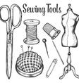Sewing Tools Set vector image