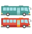 Side view of two city buses vector image