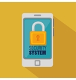 smartphone security system padlock icon vector image