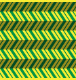seamless pattern green yellow zig zag background vector image