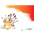 artistic tools background vector image