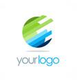 globe round technology logo vector image