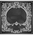 Vintage Floral Frame on Blackboard vector image