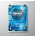 Party Flyer poster template on Summer Beach theme vector image