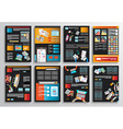 Set of Infographics Flyer and Brochure Designs vector image vector image