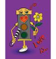 love traffic light vector image