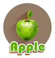 green apple icons of triangles vector image vector image