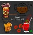 Bubble Tea Hand drawn vector image