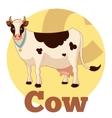 ABC Cartoon Cow vector image