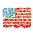 Happy Peace flag USA vector image