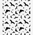 seamless of birds silhouettes vector image