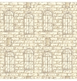 Seamless Pattern with Brick Wall and vector image