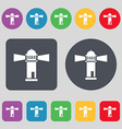 Lighthouse icon sign A set of 12 colored buttons vector image