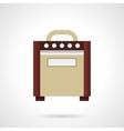 Retro guitar amplifier flat color icon vector image