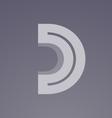 Alphabet letter D transparent logo icon design vector image