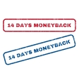 14 Days Moneyback Rubber Stamps vector image