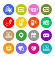 Set valentines day buttons love Internet signs vector image vector image