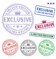 exclusive stamp vector image