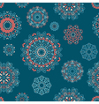 seamless pattern with round floral ornaments vector image