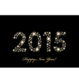 2015 Happy New Year background with sparkles vector image vector image