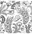 Doodle floral seamless vector image vector image