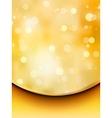 gold glitter on a light orange background eps 8 vector image
