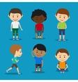 Funny kids boys vector image vector image