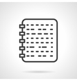 Ring notebook black line design icon vector image