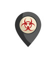 biohazard zone vector image