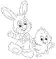 Bunny and Chick vector image
