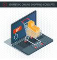 concept about online shopping vector image