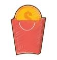 drawing bag gift buy coin dollar coin vector image