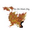 flat ho chi minh city administrative map vector image