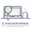 Https secure icon stock vector image