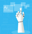 mechanical robotic hand pointing vector image