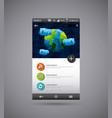 mobile template desig vector image