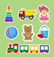 set of stickers for decoration of children s rooms vector image