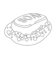 Soap icon in outline style isolated on white vector image
